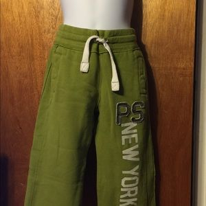 Girls lime green P.S sweatpants in size 4